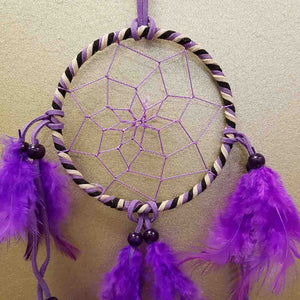 Purple Suede Dreamcatcher (10cm)