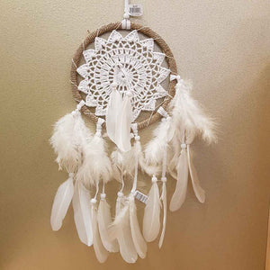 White Crochet Dreamcatcher (approx. 17cm diameter)