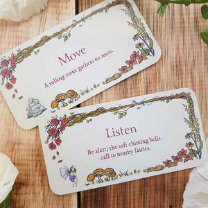 Secret Garden Mini Affirmation Cards (approx. 11x6cm)