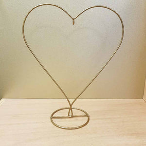 Gold Heart Stand for Spirit Balls & Hearts. (approx. 23x28x10cm)