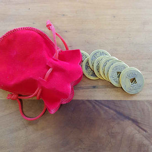 Bag of 10 Feng Shui Coins