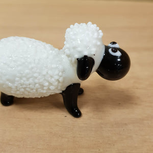 Blk & Wh Sheep Glass