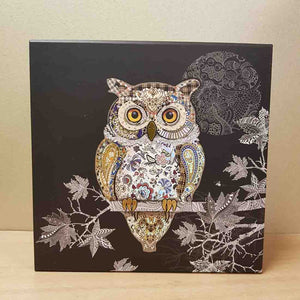 Foiled Owl Box. (approx. 20x20x11.5cm)