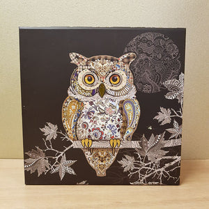 Foiled Owl Box. (approx. 17x17x9cm)