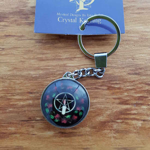 Pentacle Rose Keyring (Lisa Parker)