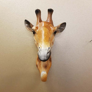 Giraffe Head Hook (for the wall. approx. 21x13x14cm)