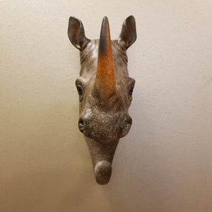 Rhino Head Hook (for the wall. approx. 20x15x6cm)