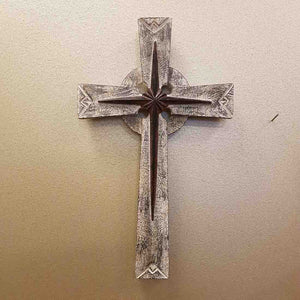 Star Cross (metal & wood. approx. 29.5x17.5cm)