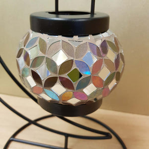 Mosaic Candle Holder with Stand (approx. 32x27x19cm)