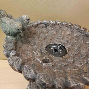 Bird Bath Water Feature (approx 23x21x19cm)