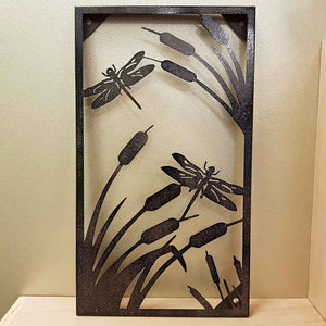 Dragonflies Metal Wall Art (approx 45x26cm)