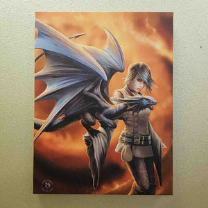 Dragon Trainer Canvas by Anne Stokes (approx. 25 x 19cm)
