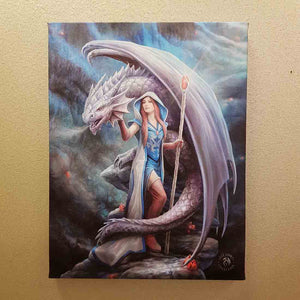 Dragon Mage Goddess Canvas (approx. 25 x 19cm)