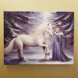Pure Magic Purple Goddess & her Unicorn Canvas (approx. 25 x 19cm)