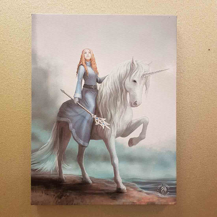 Small Journey Starts Canvas by Anne Stokes (approx. 25 x 19cm)