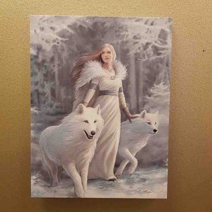Winter Guardian Canvas by Anne Stokes (approx. 25 x 19cm)