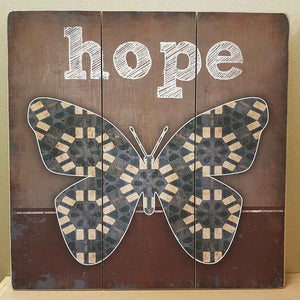 Hope Butterfly Wall Art