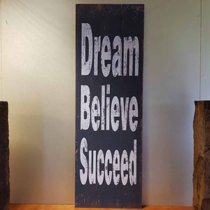 Dream Believe Succeed Wall Art (approx. 40x120cm)