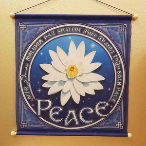 Meditation Banner Lotus of Peace