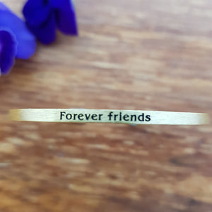 Forever Friends Bracelet (gold colour)