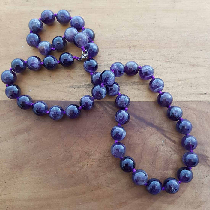 Amethyst Necklace (assorted. approx. 10mm round beads)