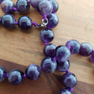 Amethyst Necklace (assorted. round beads approx. 10mm)
