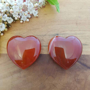 Carnelian Heart (assorted. approx. 4x4cm)