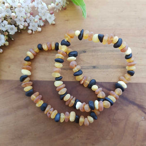 Baltic Amber Bracelet (assorted. frosted look. adult)
