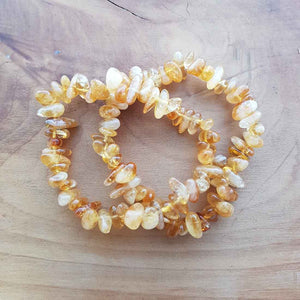 Citrine Polished Chip Bracelet (assorted)