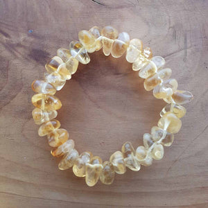 Citrine Chunky Chip Bracelet (heat-treated. assorted)