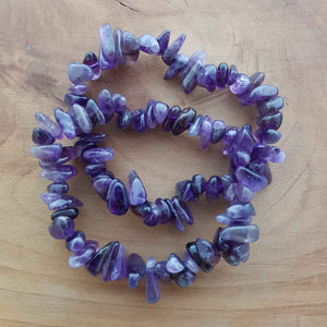 Amethyst Polished Chip Bracelet (assorted)