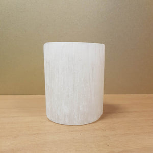 Selenite Candle Holder (assorted. approx. 10x8cm)