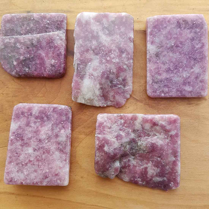 Lepidolite Polished Slab (assort. approx. 3.5x5cm but they really do vary)