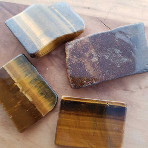 Gold Tiger's Eye Polished Slab (assort. approx. 3x4cm but they really do vary)