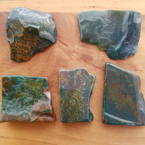 Bloodstone Polished Slab (assort. approx. 3.5x4cm but they really do vary)