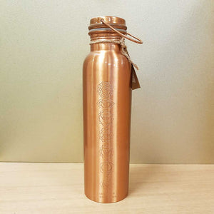 Copper & Bronze Water Bottle with Chakra Symbols