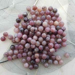 Lepidolite Bead (assorted. round. approx. 8mm)