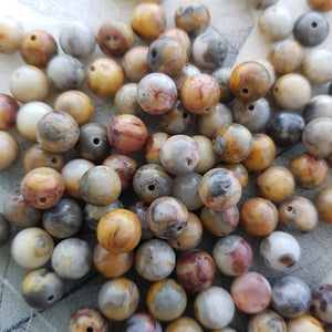 Crazy Lace Agate Bead (assorted. round. approx. 8mm)