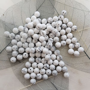 Howlite Bead (assorted. round. approx. 8mm)
