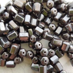 Magnetic Man- Made Hematite Cylinder Shape Bead (approx. 8x6x6mm)
