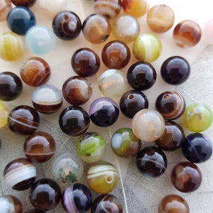 Agate Bead (dyed 8mm)