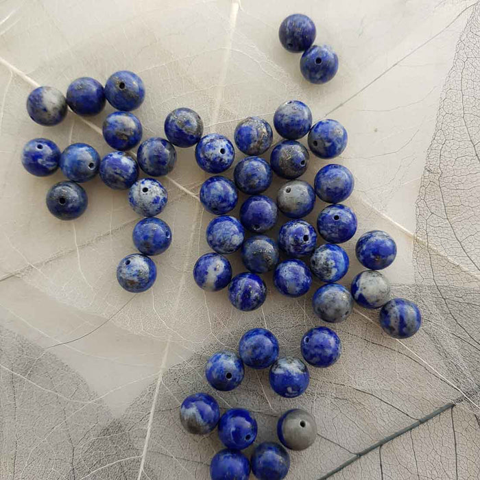 Lapis Lazuli Bead (assorted. round. approx. 8-9mm)