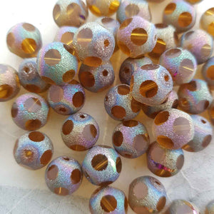 Electroplated Crystal Bead (8mm)