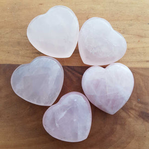 Rose Quartz Heart (assorted. approx. 3.5x3.5cm)