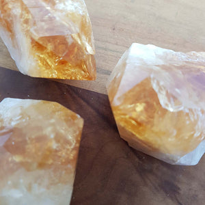 Citrine Raw Point (heat treated. assorted. approx 9-11x5-6cm)