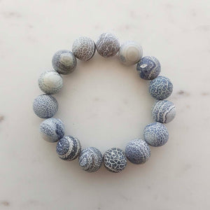 Blue Confusionite Bracelet (assorted. approx. 13mm round beads)