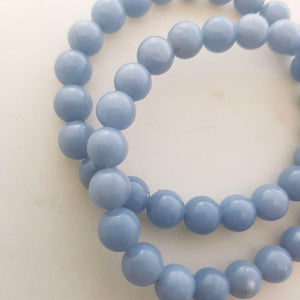Angelite Bracelet (assorted. approx. 8mm round beads)