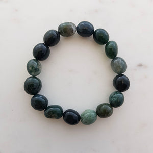 Moss Agate Nugget Bracelet (assorted)