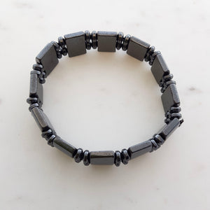 Magnetic Hematite Bracelet (reconstituted. assorted designs)