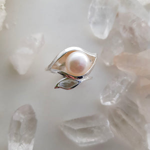 Freshwater Pearl Ring (sterling silver)